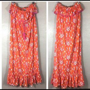 NWT Mud Pie Women's Strapless Maxi Dress Large